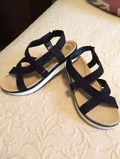 Dr. Scholl's Harmony Black Wedge Platform Sandals. Womens Size 8. Cute!