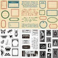- handwerk scrapbooking retro - stil transparente stempel silikon - kautschuk