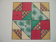 Old Maid's Puzzle Quilt Block Pattern Spinning Spools w/uncut plastic templates