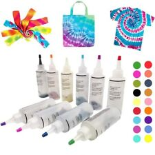 12pcs Tie Dye Kit Non-toxic DIY Garment Graffiti Fabric Textile Paint 120ml
