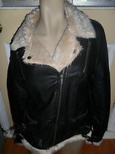 BNWT TEMT BLACK LEATHER LOOK JACKET LADIES SIZE 10 NEW RRP $49.95