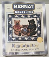 "New Latch Hook Kit ""My Three Bears"" by Bernat #422409 - 35"" x 29"" Hooked Rug"