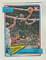 2018-19 Chronicles CLASSICS #647 SHAI GILGEOUS-ALEXANDER RC Rookie QTY AVAILABLE