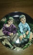 """"""" Roughing It"""" The Little Rascals Plate Collection Hamilton Collection Mib Coa"""