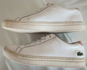 Lacoste Women's L.12.12 317 4 CAW Leather shoes Size 6 Colour White/Pink