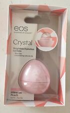 1 X EOS Evolution of Smooth Crystal Weightless Hydration Lip Balm Hibiscus Peach