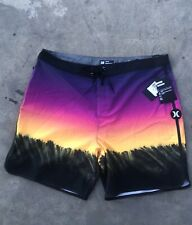 "Hurley Mens Phantom Estuary 18"" Boardshorts AH0035 Size 38 Nwt Pink Blast Shorts"