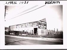 VINTAGE PHOTOGRAPH 1931 OIL WELL TOOLS SIGN LOS ANGELES VERNON CALIFORNIA PHOTO