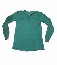 New listing Vintage Ll Bean River Drivers Shirt Men's L Tall Henley Green Wool Blend Usa