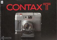 Yashica Bedienungsanleitung für Contax T