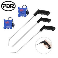 3×PDR Paintless Dent Repair Crowbar Push Rod  Removal & 2pc Air Pump Wedge Kit