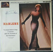 MARLENE DIETRICH Signed ALBUM Cover FALLING IN LOVE AGAIN COA