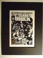 1981 MIKE VOSBURG  SHE-HULK  # 14 HELLCAT & MAN-WOLF COVER MARVEL PRODUCTION ART