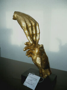 "Casablanca Design Skulptur ""Two Hands"" 89228 Höhe 29 cm goldfarben Freunde Hilfe"