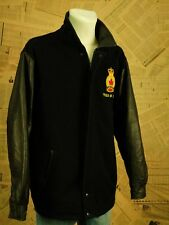 Vintage Militär Lodenjacke XL Veteran Echtleder Leather Jacket Retro Kanada Warm