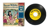 Vintage Peter Pan 45 RPM SNOW WHITE & the SEVEN DWARFS Book & Record Read Along