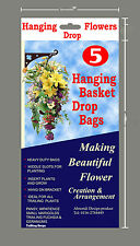 5 Hanging Flower Strawberry Trailing Plant Herbs Drop Bags Hanging Garden Plant