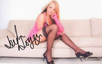 LEIGH LOGAN Signed 12x8 Photo British PORN STAR  COA