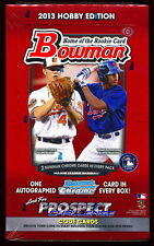 2013 BOWMAN BASEBALL SEALED HOBBY BOX auto chrome prospect rc sp mini top 100