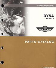 2003 HARLEY-DAVIDSON DYNA 100TH ANV PARTS CATALOG MANUAL -FXDWG-FXDXT-FXD