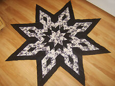 BLACK & WHITE ARROWHEAD STAR- Quilt Top - Not quilted