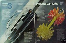 1979 Porsche 924 Turbo  2 Page Promo Trade Car Ad