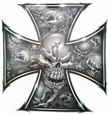Skull Cross 50mm for chopper, trike, motorbike, moto x, helmet, off road 4x4