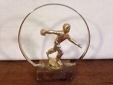 Vintage 1960's Bowling Tournament Wood & Metal Trophy (HD6)