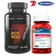 AOL120 Tabs + lnhAR60 Caps Hormone Support Lean Muscle Growth & Testosterone PCT