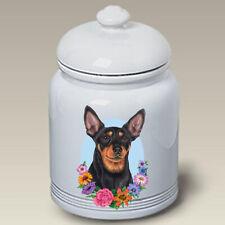 Miniature Pinscher Ceramic Treat Jar Tp 47222
