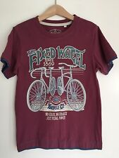 TU, 8 year, boys, T-Shirt. Red, bike, fixed wheel, cycle, short sleeve.