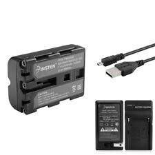 NP-FM500H Battery+Charger For Sony A200 A300 A350+Cable New