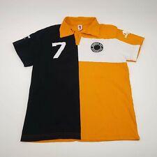 New listing DIRK BIKKEMBERGS SPORTS L Mens Short Sleeve Polo Shirt Jersey Orange/Black/White