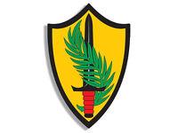 """4"""" ARMY CENTCOM CENTRAL COMMAND HELMET BUMPER EMBLEM DECAL STICKER USA MADE"""