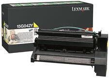 LEXMARK 15G042Y C752-C762-X752-X762 YELLOW TONER ORIGINALE