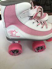 Roller Derby Youth Girls Firestar Roller Skate Size 3 White/Pink Kids Skates
