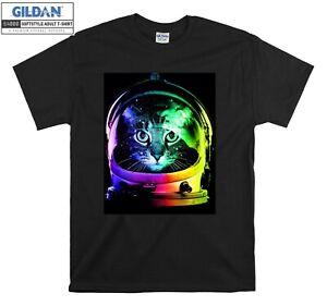 Astronaut Funny Cat T-shirt Space Colorfull T shirt Men Women Unisex Tshirt 544