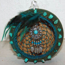 southwestern gourd oil lamp or candle with dreamcatcher