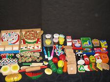 Waldorf Montessori Wooden Food Lot Preschool Daycare Toy Lot
