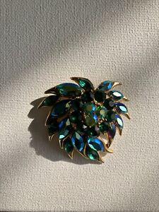Vintage Crystal Sphinx Brooch