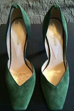 EMPORIO ARMANI MISMATCH Women's Size R- 7.5/ L- 6.5 Green Suede High Heel Shoes