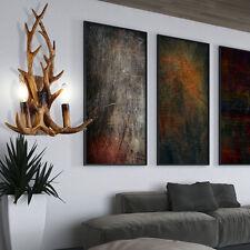 Wand Leuchte Wohn Raum Hirsch Geweih Deko Beleuchtung Holz Design Lampe braun