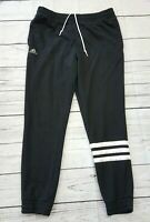 Adidas Training Cuffed Joggers Sweats Mens Size XL Black Stripe Leg Athletic   N