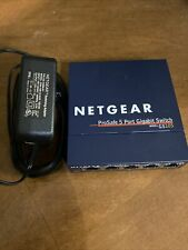 Netgear Gs105 v2 ProSafe 5-Port Gigabit Ethernet Switch Excellent Condition