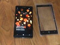 """Nokia Lumia 930 noir-4G- écran 5"""" Windows débloqué , vitre cassé"""