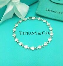 Tiffany & Co RARE Italy Heart Link Silver 7.25 Inches Bracelet Full UK Hallmark!