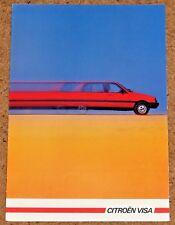 1984-85 CITROEN VISA folleto de ventas (mercado francés) - Decapotable GT TRS Club RD