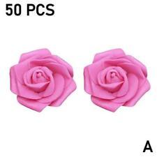 Artificial Flowers Small Foam Roses - Bunch of 50 Wedding Bouquet B5L5