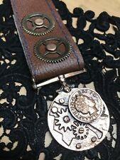 Steampunk médailles Cog mécanique médaille cuivre Badge Arrière Broche Pin
