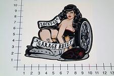 LUCKY 13 GARAGE BUILT Aufkleber Sticker Sexy Pin Up Handmade Motorrad Bike Pu058
